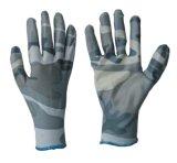 travail en nylon Glove-5030 de nitriles de doublure d'impression de 13G Comouflage