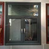 Ventana de aluminio del marco de la rotura termal de la doble vidriera (JFS-60002)