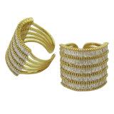Monili di modo dei 2017 commerci all'ingrosso per i monili d'argento di modo dell'anello del AAA CZ 925 bianchi caldi promozionali di vendita del regalo della donna (R10999)