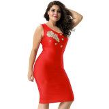 최신 판매 숙녀 빨간 1 어깨 Bodycon 섹시한 복장