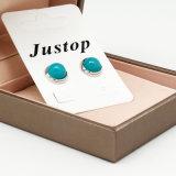 Smaragdgroene Oorring van de Steen van de Nagel van juwelen de Buitensporige Zilveren Turkooise voor Vrouwen