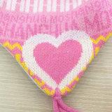 Шарф шлема шарфа печатание письма Earmuff зимы детей малышей теплым связанный комплектом (SK422S)