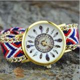 Der neue, schnelle Verkauf, Ebay, Federn, Feder-Armbänder, strickte Wollen, DIY weibliche Quarz-Uhren
