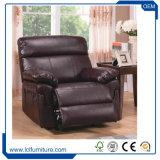 Da tela de madeira do couro do sofá da sala de visitas do hotel da venda da fábrica de China cadeira do sofá única