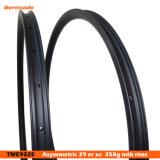 MTB Bike углерода асимметричная ободов 29er 25мм 30мм Ширина Вечеря легкий вес бескамерные со смещением обода велосипедов MTB