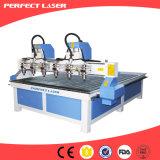 Alto rendimiento 1200*1800m m 3D que talla la máquina del ranurador del CNC