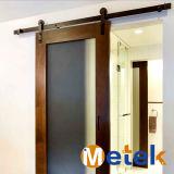 Metal de Balck del precio competitivo que resbala la puerta de granero plegable