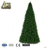Pellicola glassata opaca rigida verde/gialla del PVC per natale Tree&Lawn&Leaves&Greensward