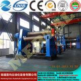 Roulement hydraulique machine CNC de métal de la plaque de la machine de roulement du rouleau de feuille de machines de flexion de la plaque en acier