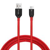Câble usb de remplissage à grande vitesse tressé en nylon du câble téléphonique C3450