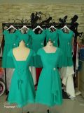 O baile de finalistas Chiffon conservado em estoque feito sob encomenda do partido veste os vestidos de noite baratos Z3005 da dama de honra da matriz