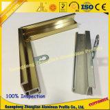 Armário de cozinha perfil de alumínio da alavanca de vidro de cor