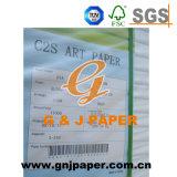 Papier enduit blanc de la qualité grande A2 128GSM avec l'emballage de palette
