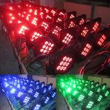 batteria LED piano senza fili PAR64 di 9X10W 4in1
