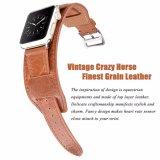Comercio al por mayor de la banda de Reloj de cuero para Apple Iwatch, Pulsera de Puño marrón correa