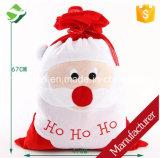 Nuevo ornamento de la decoración de Navidad del bolso del regalo del caramelo/de la Navidad del bolso de Papá Noel