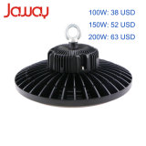 Fabricant lampe LED Meanwell UFO 130lm/W facteur prix bon marché 250W 200W Industrial LED High Bay lumière 100W