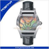 Senhoras Watch Swiss Watch com banda de couro