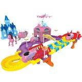el tren eléctrico plástico del juguete del regalo de la Navidad 39PCS fijó con la luz y la música (10289931)