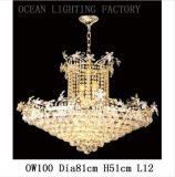 Iluminação de cristal do candelabro do projeto do hotel da iluminação do oceano (OW132)