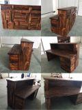 Mobilia di legno solido della noce, fatta direttamente del libro macchina, rifinitura perfetta, presidenza di legno solido/mobilia