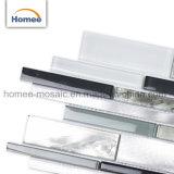 熱い販売の贅沢パターン薄い灰色アルミニウムストリップの浴室ガラスのモザイク