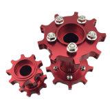 Mozzo di rotella di alluminio della bici della sporcizia di CNC di alta precisione