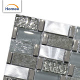 Venta caliente pequeño chip Cristal Glitter gris piedra mosaico de vidrio de metal mezclado