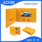 Tarjeta de felicitación video del ODM LCD del OEM para hacer publicidad