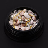 Nails Accessoires (NR-30)를 위한 형식 Style Mixed Nail Crystals Rhinestones Beads DIY 3D Nail Jewelry