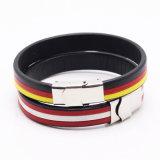 Form-Frauen-handgemachtes echtes Leder-Mann-Schmucksache-Armband