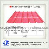 (Vorgestrichene) Farbe beschichtete galvanisiertes gewölbtes Stahlblech für das verwendete Dach