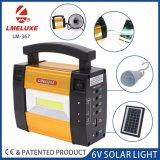Батарея домашнего солнечного аварийного освещения Built-in 6V 4ah перезаряжаемые
