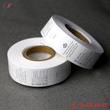 China Wholesale impreso personalizado de atención de la etiqueta de lavado de tafetán