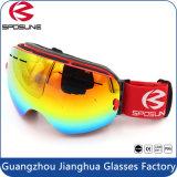 Protección UV 100%; el lente de espejo; Anti-Scratch gafas de nieve al aire libre.