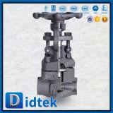 Soupape à vanne d'extrémités de bride d'acier inoxydable de Didtek API6d