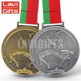 リボンが付いている金属のスポーツ賞のTaekwondo卸し売り安いカスタムメダル