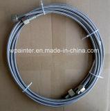 SAE 100 R14 deux ensembles de tuyau tressés de l'acier inoxydable PTFE de couche