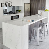 Pierre veinée blanche de quartz de Calacatta pour la cuisine
