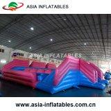 Obstáculo inflable con la diapositiva combinada
