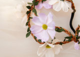 Boho様式の祝祭のヘッドバンドの結婚式の毛のアクセサリの人工花の王冠