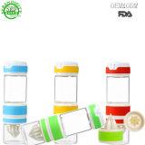 550ml novo estilo degarrafa de sumo de bebidascom o parafuso da tampa de vidro
