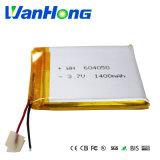 батарея 654050pl 1400mAh 3.7V перезаряжаемые для репроектора GPS/Digital