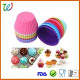 100 % du silicone de qualité alimentaire Cupcake moule à muffin ronde