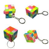 Cubo magico di plastica dell'ABS su ordinazione di marchio di prezzi di fabbrica con la catena chiave