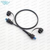 Odva Mpc/LC/Sc IP67 imperméabilisent le câble de connexion de fibre optique de connecteurs