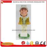 Ткань из чесаного Polyresin подарки головки блока цилиндров для поощрения Bobblehead ремесла