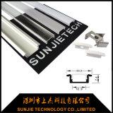 In een nis gezet LEIDEN van het Aluminium Profiel voor LEIDENE Strook met het Dubbele Zilver Geanodiseerde Eindigen