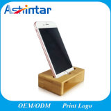 Естественный акустический Bamboo деревянный диктор держателя стойки ядрового усилителя сотового телефона для Iphones