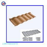 Large Galvalumed d'utilisation de l'acier en acier revêtu de pierre de style romain tuile de toit
